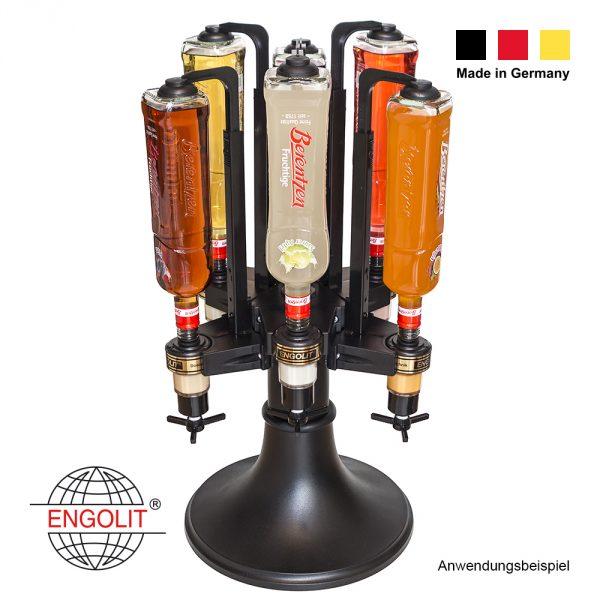 Bar Butler mit 6x Drehkreuz-Dosierer
