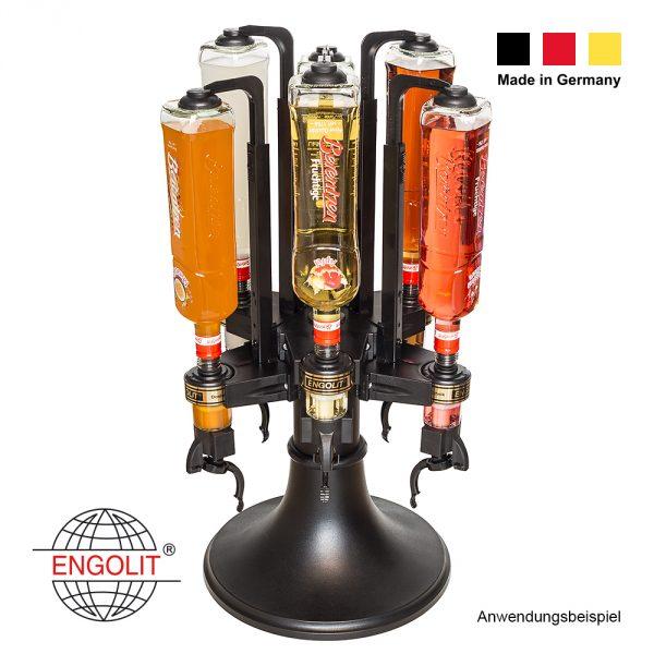 Bar Butler mit 6x Finger-Push-Dosierer