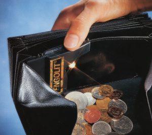 Beleuchtung Geldbörse